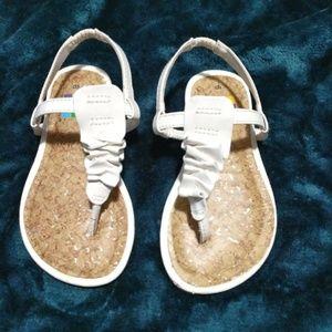 Healthtex Sandals White Sz 6